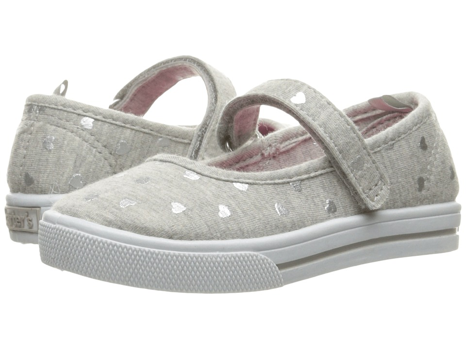 Carters - Victori 4 (Toddler/Little Kid) (Grey/Silver) Girl's Shoes