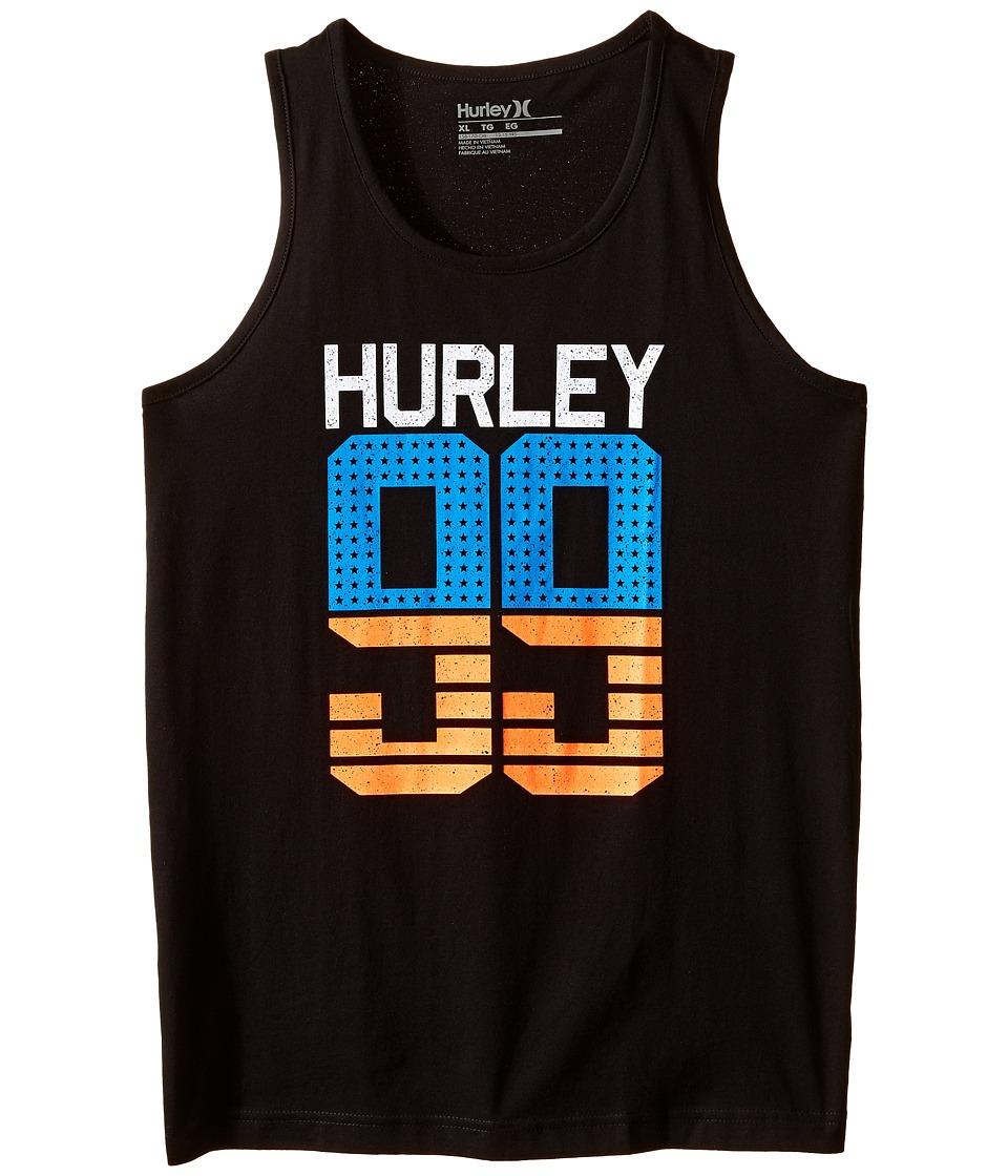 Hurley Kids - Stars and Stripes Tank Top (Big Kids) (Black) Boy's Sleeveless
