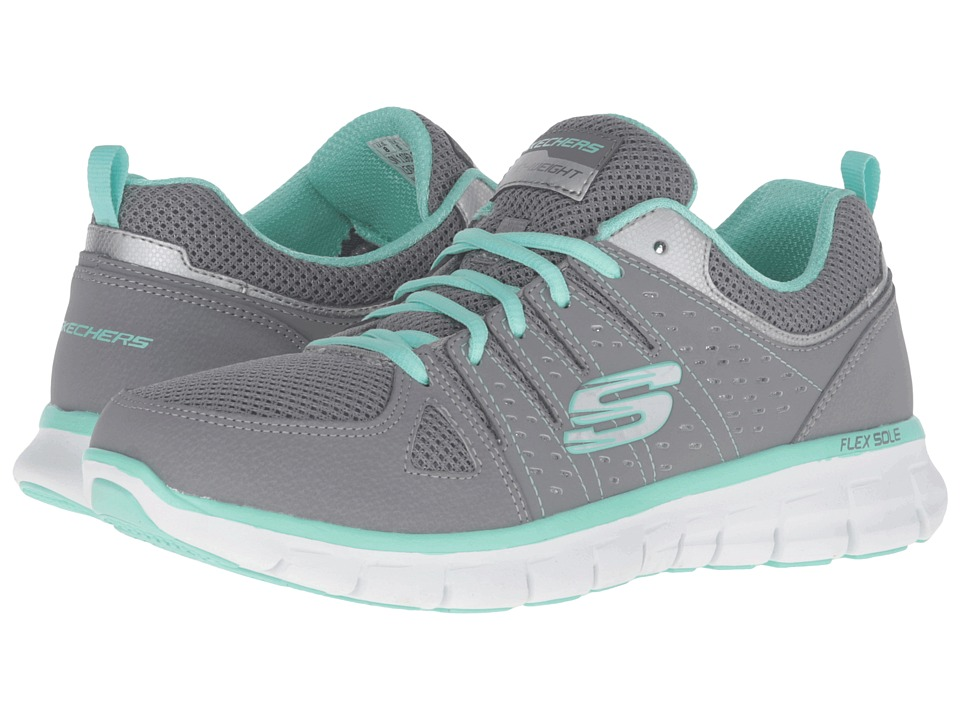 SKECHERS - Look Book (Gray Mint) Women's Shoes