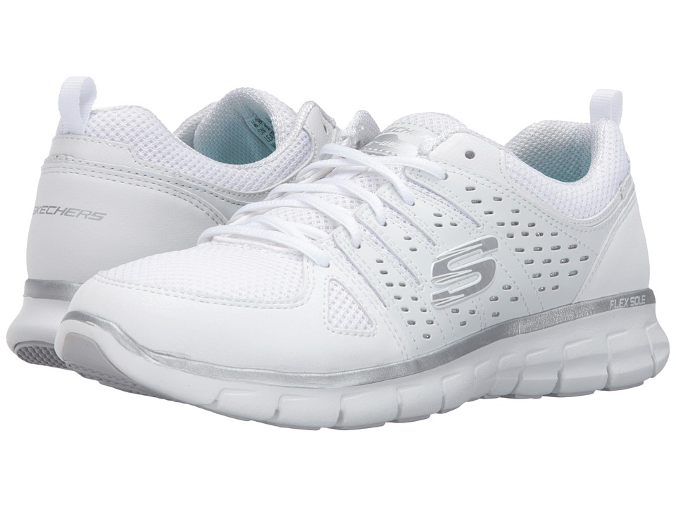 SKECHERS - Look Book (White/Silver) Women's Shoes
