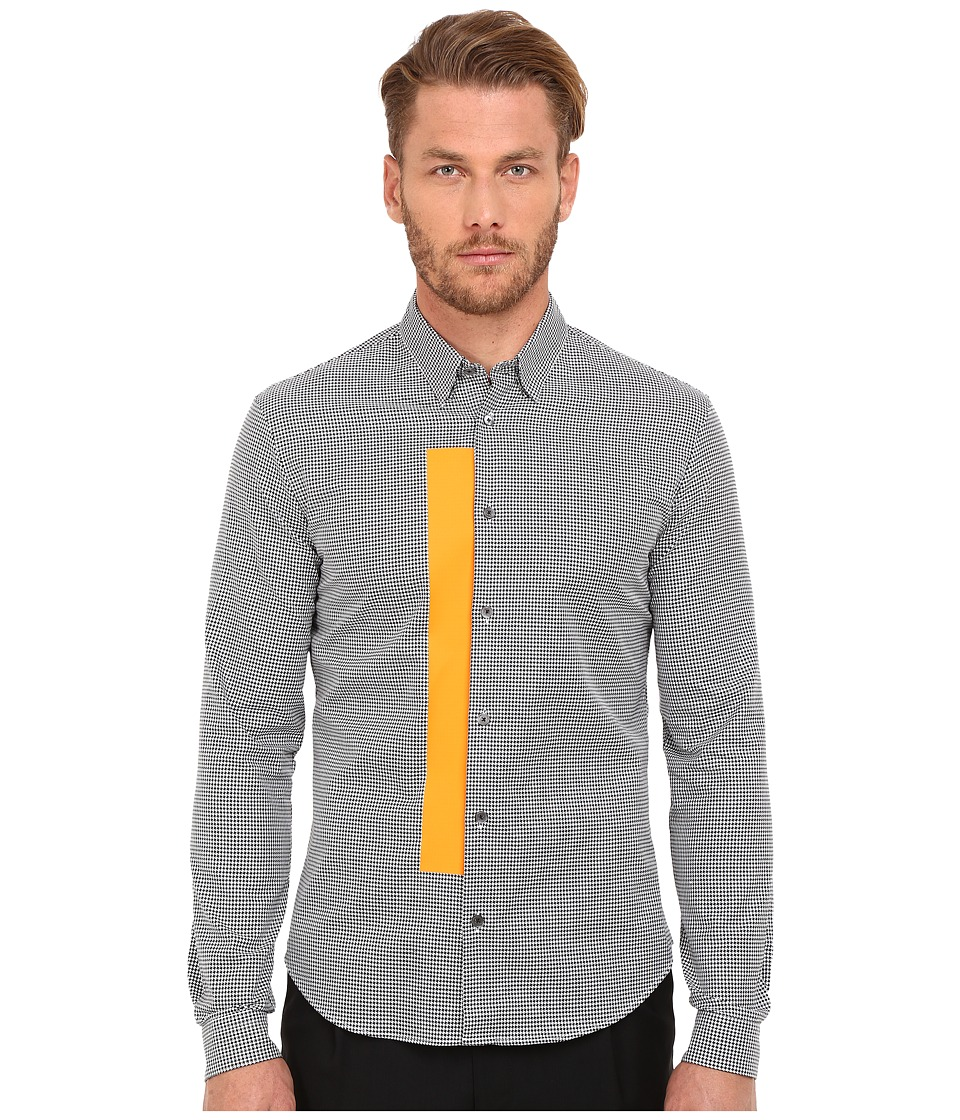 McQ - Googe Shirt (Dogtooth) Men's Long Sleeve Button Up