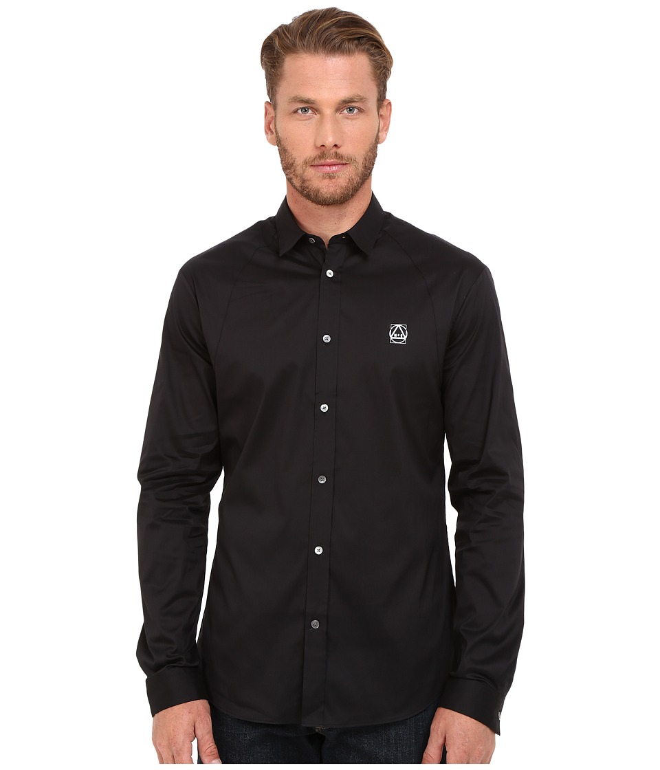 McQ - Harness Shirt (Darkest Black) Men's Long Sleeve Button Up