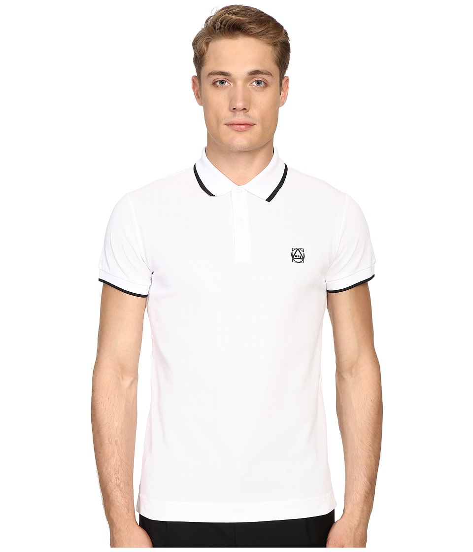 McQ - McQ Polo (Optic White) Men's Short Sleeve Pullover