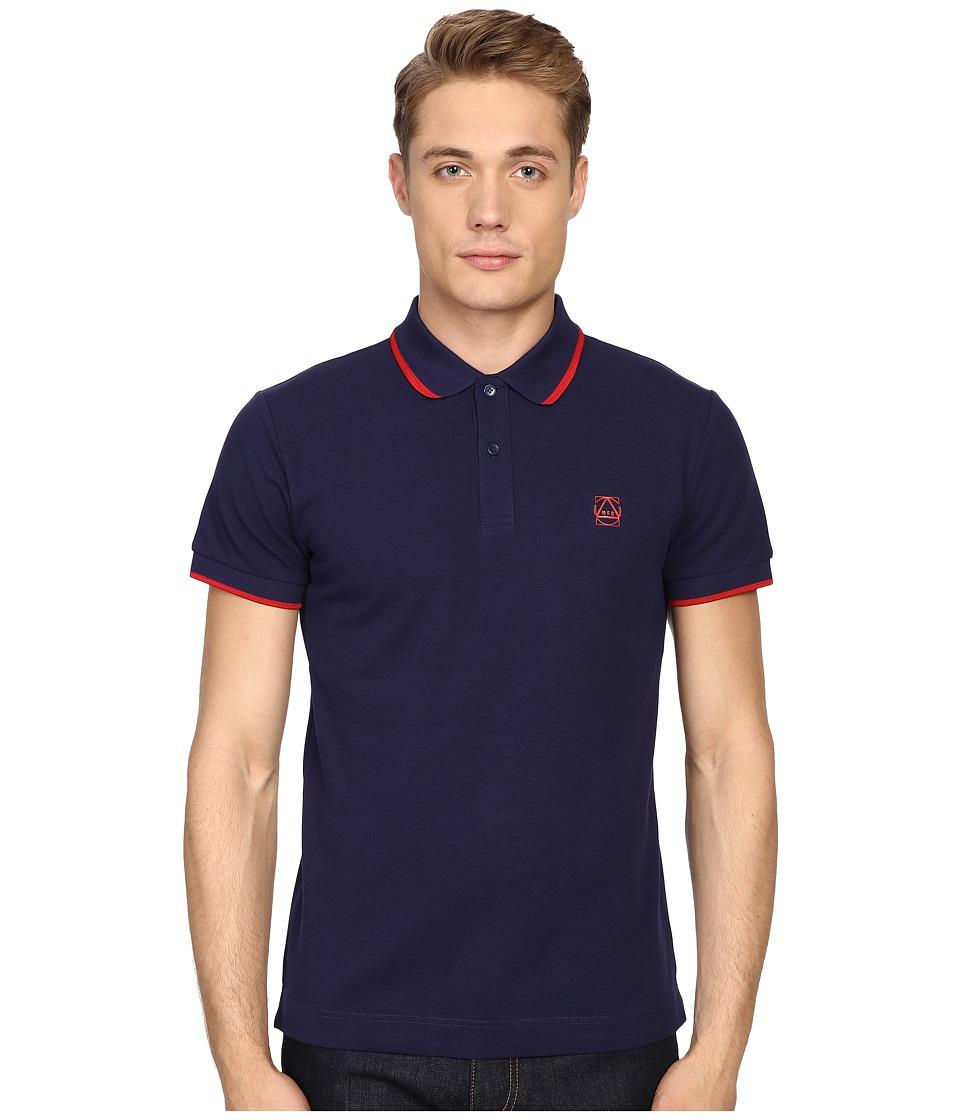 McQ - McQ Polo (Midnight Navy) Men's Short Sleeve Pullover