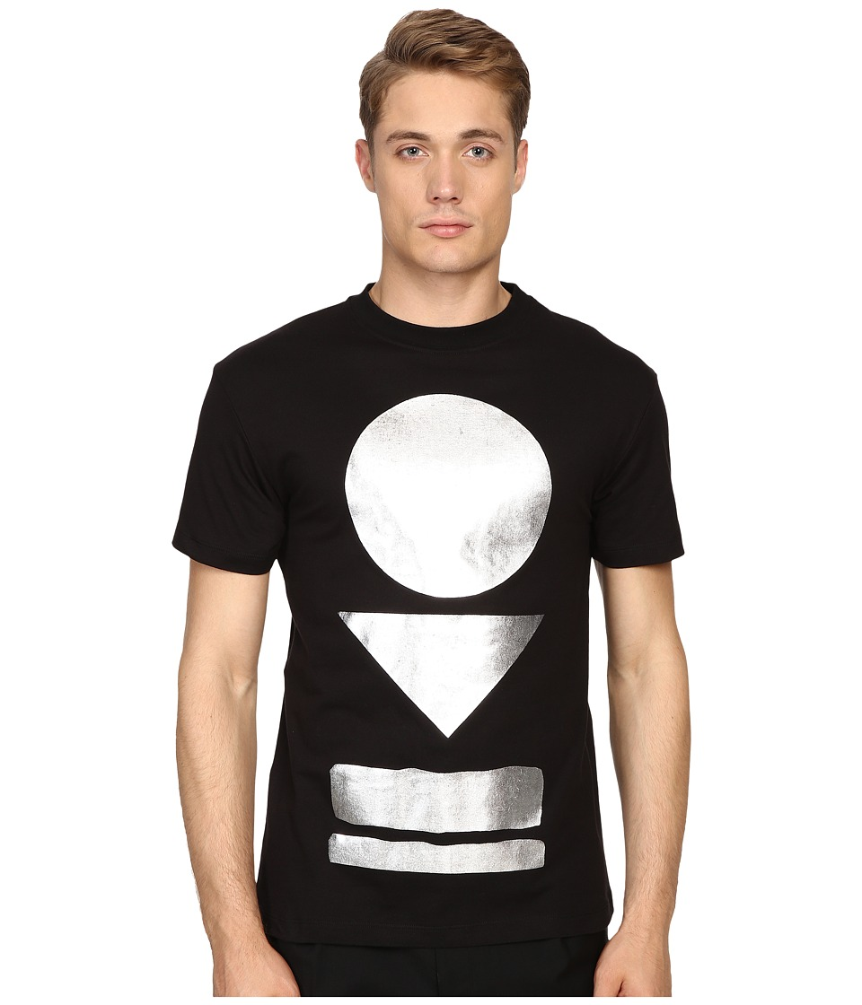 McQ - Dropped Shoulder Tee (Darkest Black) Men's T Shirt