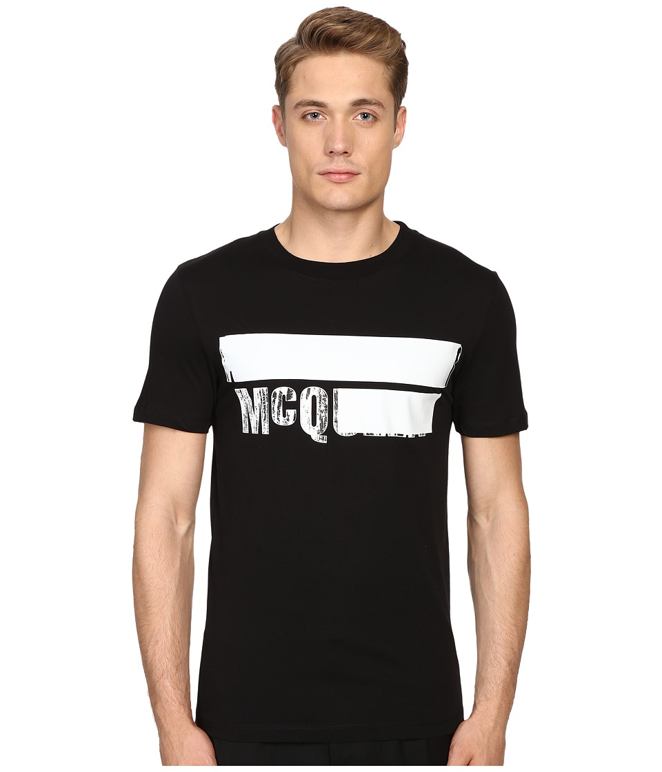 McQ - Short Sleeve Crew Tee (Darkest Black) Men's T Shirt
