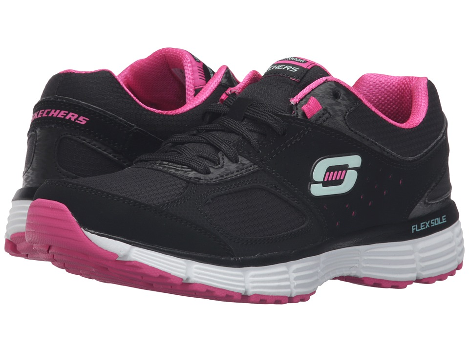 SKECHERS - Agility - Ramp Up (Black/Pink) Women's Shoes