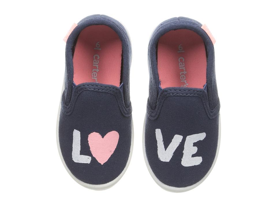 Carters - Tween 4 (Toddler/Little Kid) (Navy) Girl's Shoes
