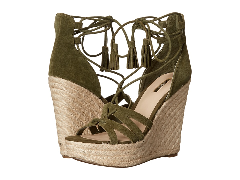 GUESS - Ollina (Green Suede) Women's Wedge Shoes