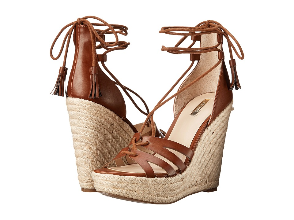 GUESS - Ollina (Tan Leather) Women's Wedge Shoes