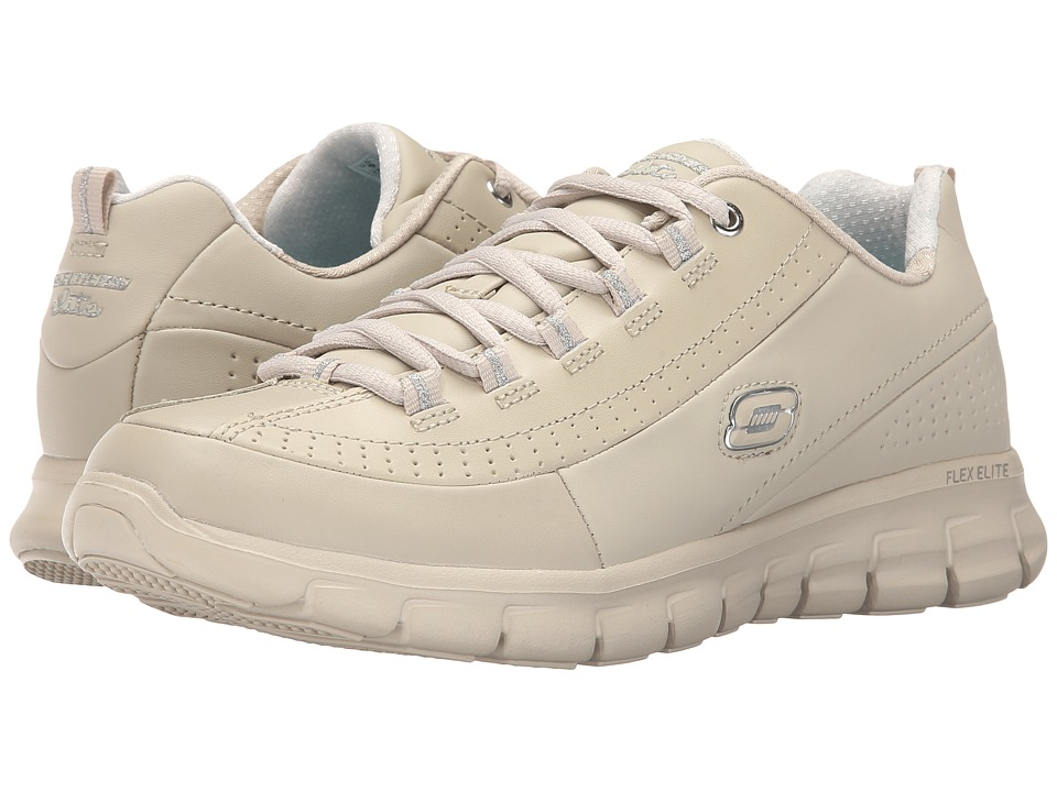 SKECHERS - Synergy - Elite Status (Stone) Women's Lace up casual Shoes