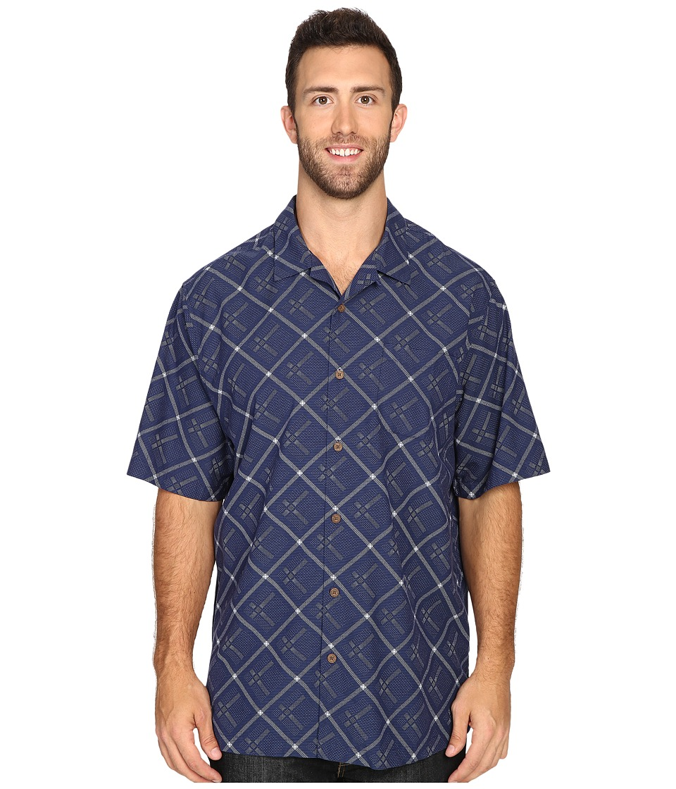 Tommy Bahama Big & Tall - Big Tall Rhumba Dobby Short Sleeve (Deep Space) Men's Short Sleeve Button Up