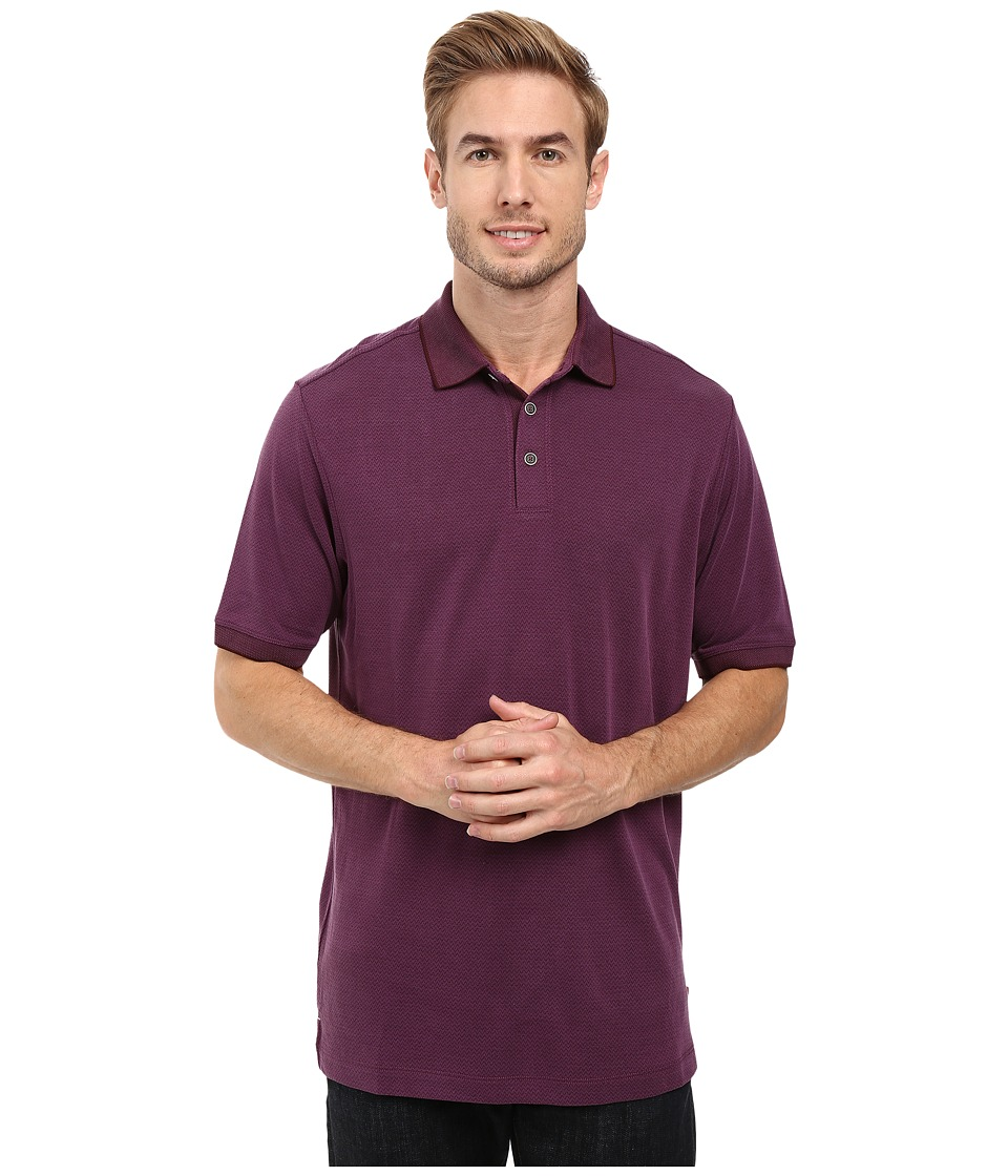 Tommy Bahama - New Ocean View Polo (Rum Berry) Men's Clothing