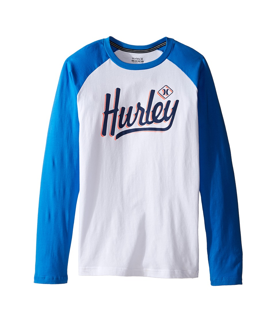 Hurley Kids Athletic Raglan Tee (Big kids) (Fountain Blue) Boy
