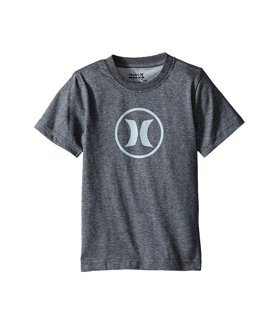 Hurley Kids - Dri Fit Icon Tee (Little Kids) (Charcoal Heather) Boy's T Shirt