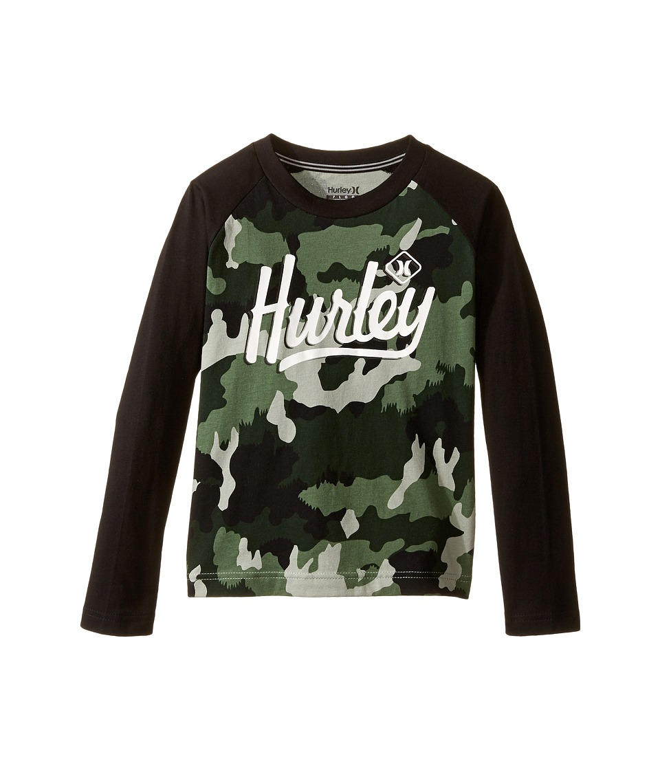 Hurley Kids Athletic Raglan Tee (Little Kids) (Green Camo) Boy