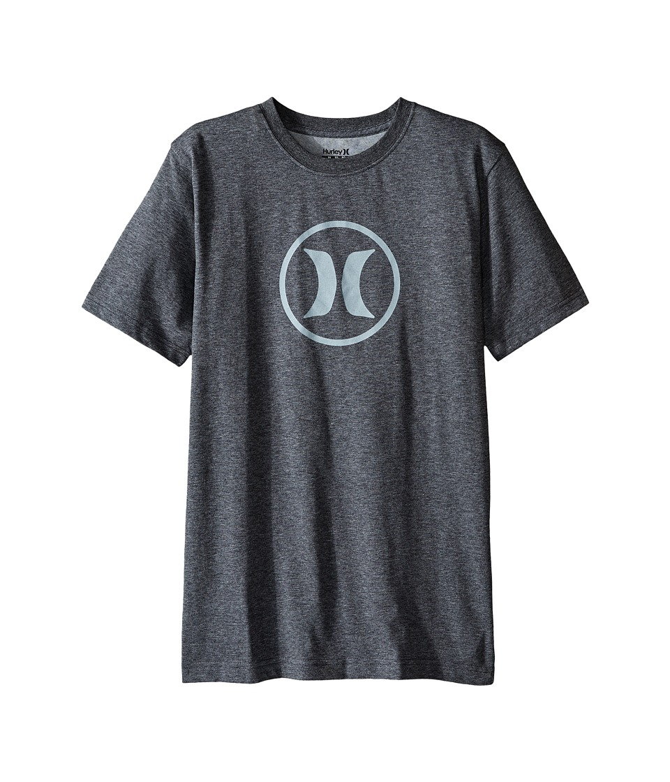 Hurley Kids Dri Fit Icon Tee (Big kids) (Charcoal Heather) Boy