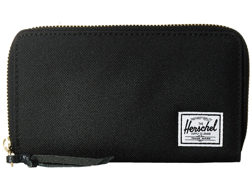 Herschel Supply Co. - Thomas with Zipper (Black) Wallet Handbags
