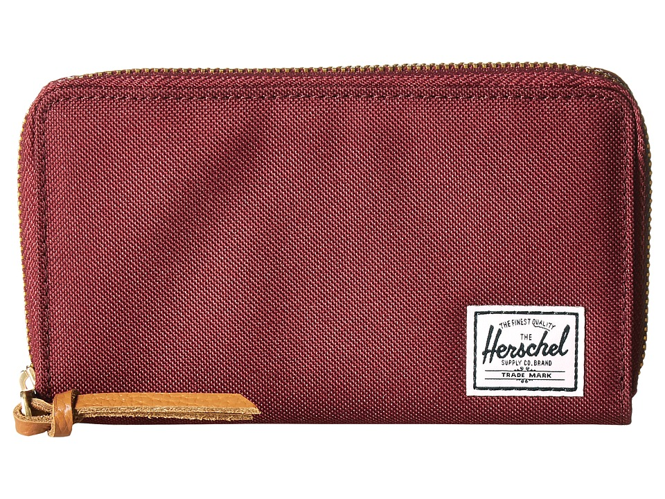 Herschel Supply Co. - Thomas with Zipper (Windsor Wine) Wallet Handbags