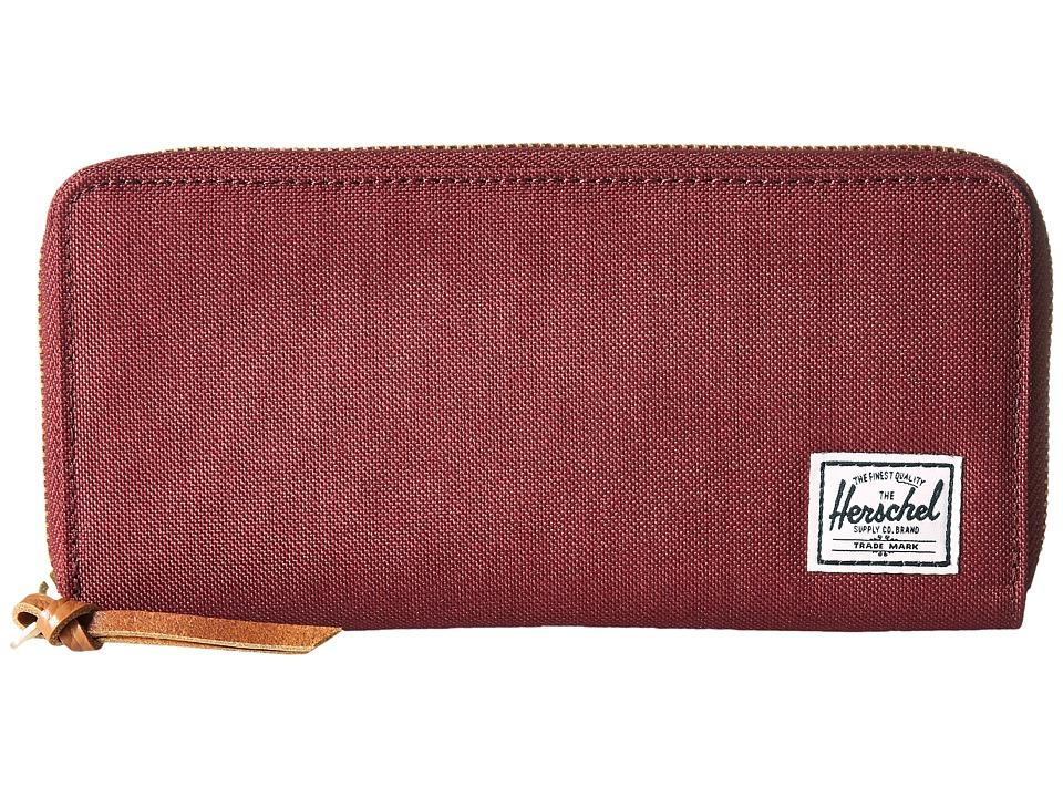 Herschel Supply Co. - Avenue with Zipper (Windsor Wine 2) Wallet Handbags