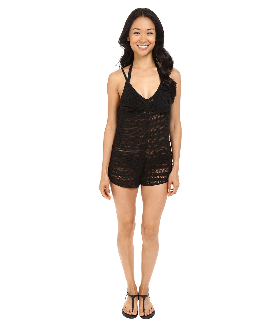Volcom - Lost Sea Romper Cover-Up (Black) Women's Swimsuits One Piece
