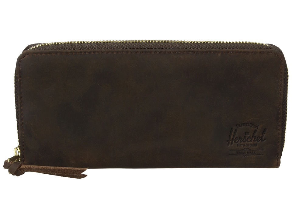 Herschel Supply Co. - Avenue with Zipper Leather (Nubuck Leather) Wallet Handbags