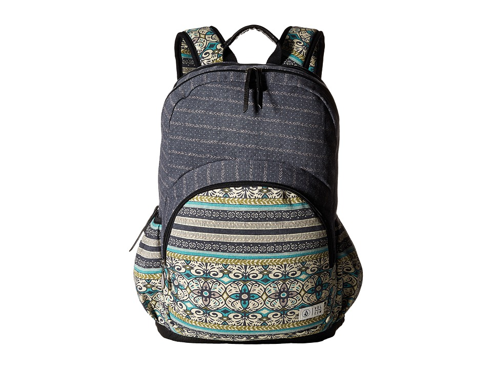 Volcom - Fieldtrip Canvas Backpack (Dark Navy) Backpack Bags