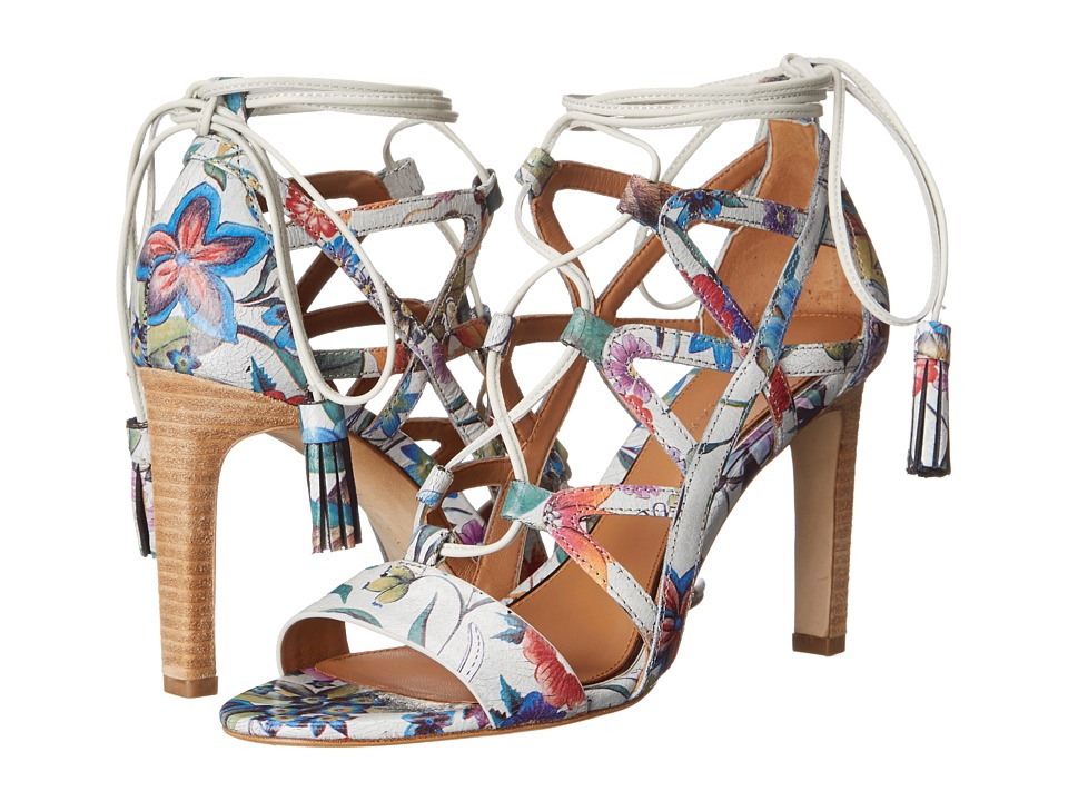 Tahari - Elie Tahari - Hurricane (Floral Print Crackle Leather) High Heels