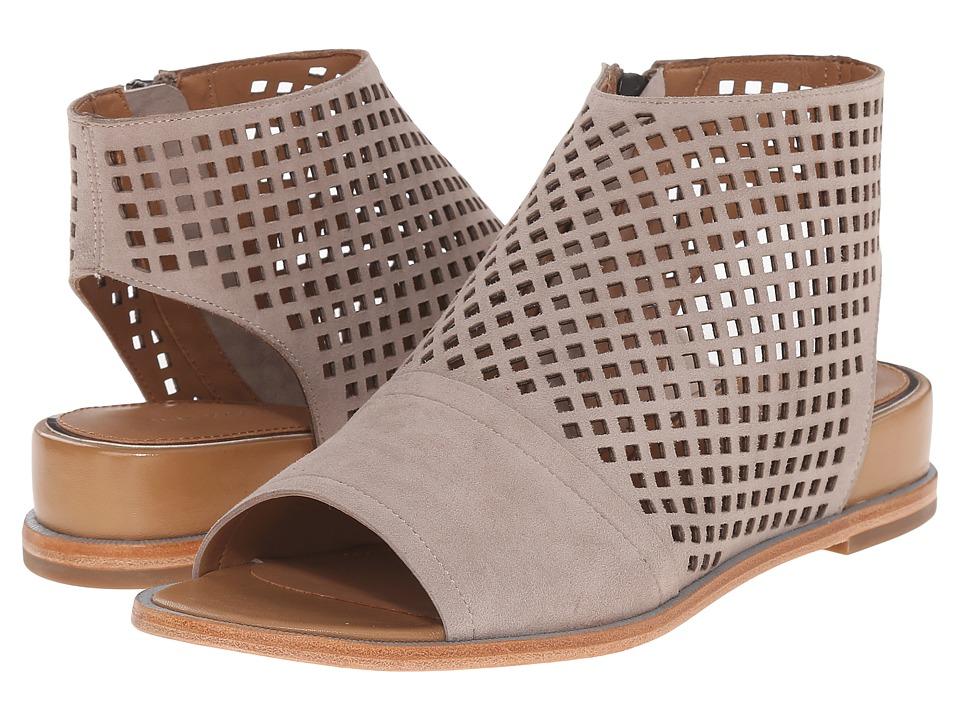 Tahari - Elie Tahari - Venice (Taupe Kid Suede/Cuoio Sheep Nappa) Women's Dress Sandals