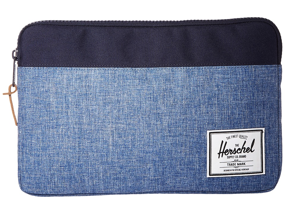 Herschel Supply Co. - Anchor Sleeve For 11 in Macbook (Limoges Crosshatch/Peacoat) Computer Bags