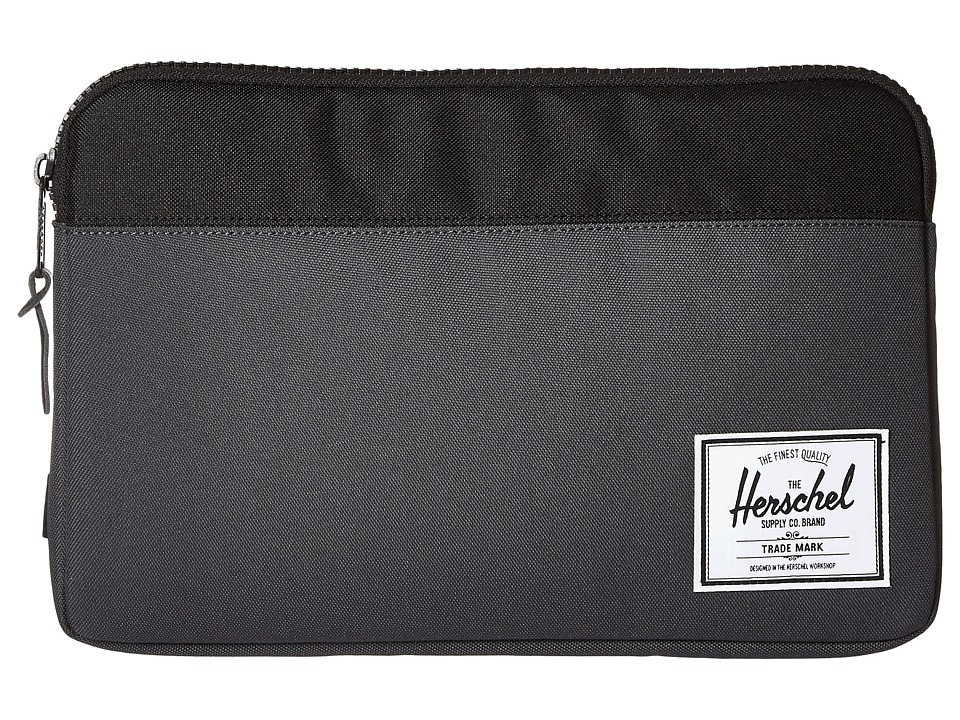 Herschel Supply Co. - Anchor Sleeve For 11 in Macbook (Dark Shadow/Black) Computer Bags