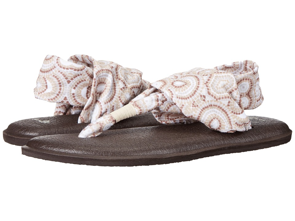 Sanuk - Yoga Sling 2 Prints (Natural Multi Radio Love) Women's Sandals