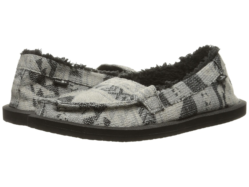 Sanuk - Shorty TX Chill (Charcoal Multi Blanket) Women's Slip on Shoes