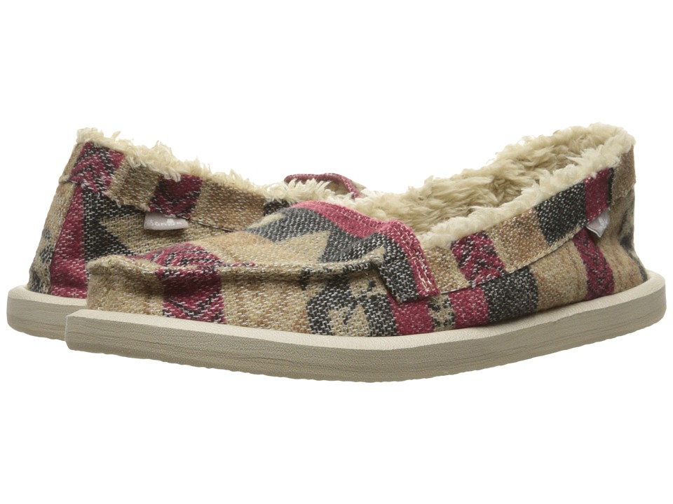 Sanuk - Shorty TX Chill (Natural Multi Blanket) Women's Slip on Shoes