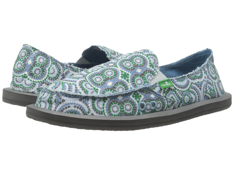 Sanuk - Donna (Cement Multi Radio Love) Women's Slip on Shoes