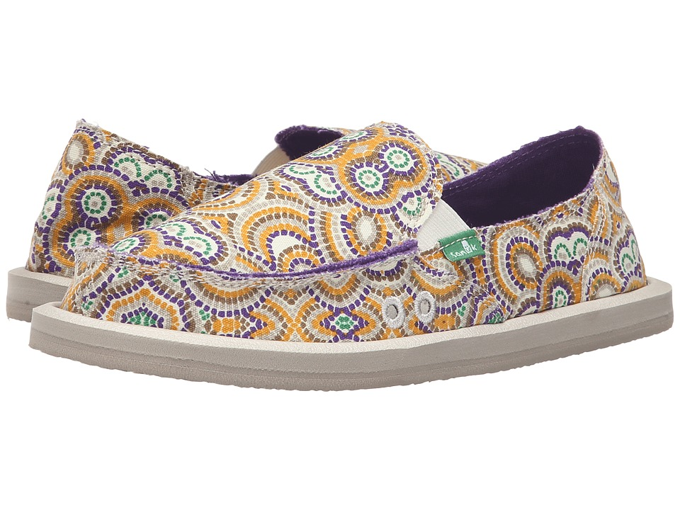 Sanuk - Donna (Purple Multi Radio Love) Women's Slip on Shoes