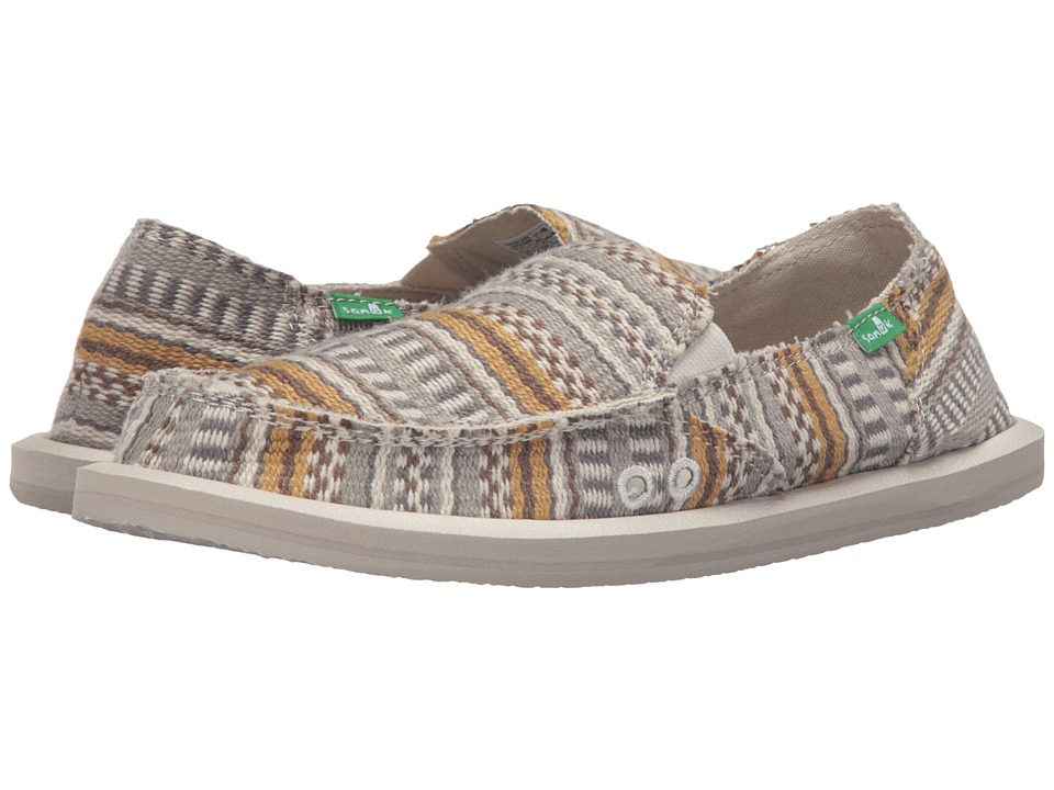 Sanuk - Donna Blanket (Natural Bayridge Blanket) Women's Slip on Shoes