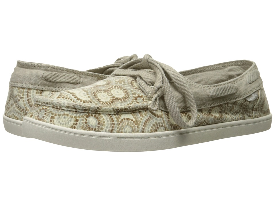 Sanuk - Pair O Sail Prints (Natural Multi Radio Love) Women's Lace up casual Shoes