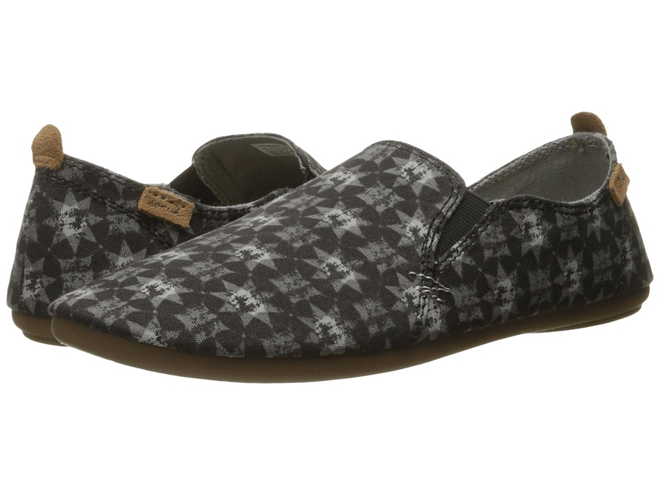 Sanuk Isabel Prints (Washed Black Brooklyn Tile) Women