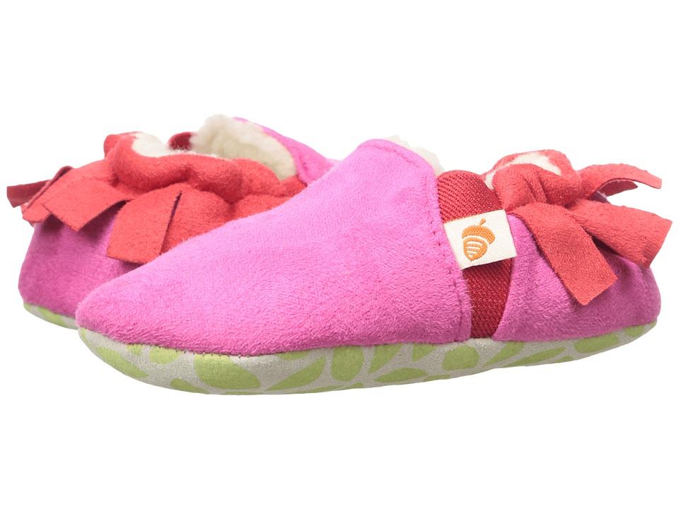 Acorn Kids - Easy-On Moc (Infant/Toddler) (Magenta Fringe) Girls Shoes