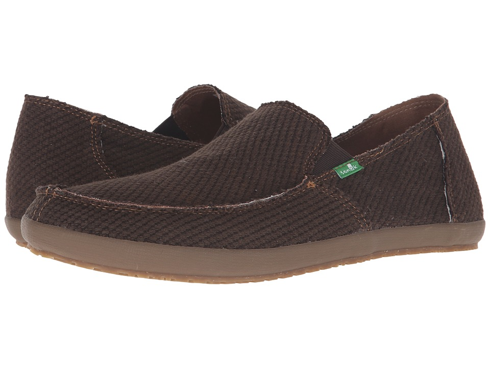 Sanuk - Rounder Hobo Hemp (Brown Gum) Men's Slip on Shoes