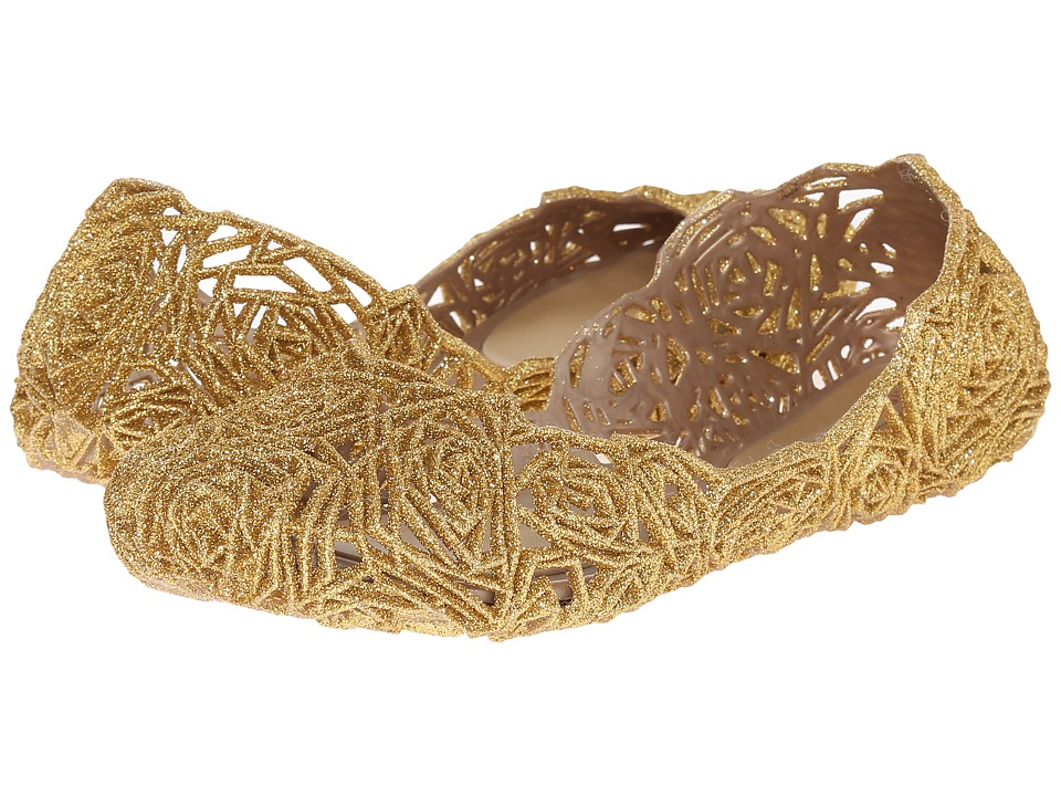 Melissa Shoes - Melissa Campana (Gold Glitter) Women's Shoes