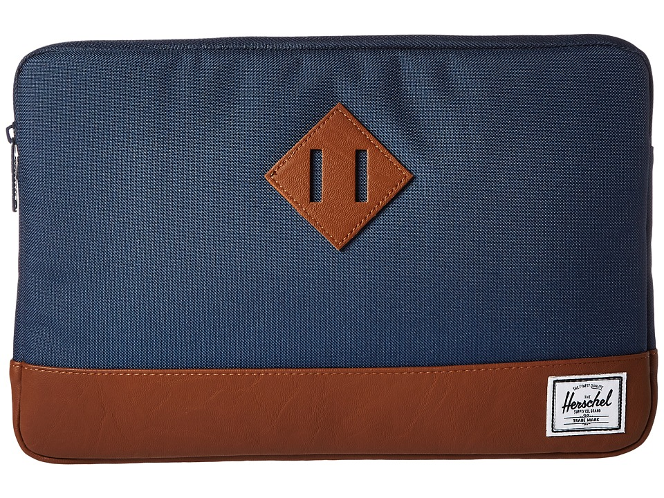 Herschel Supply Co. - Heritage Sleeve for 12inch MacBook (Navvy/Tan Synthetic Leather) Computer Bags