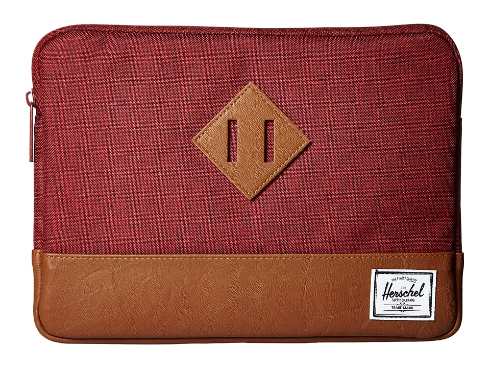 Herschel Supply Co. - Heritage Sleeve for iPad Air (Winetasting Crosshatch/Tan Synthetic Leather) Wallet