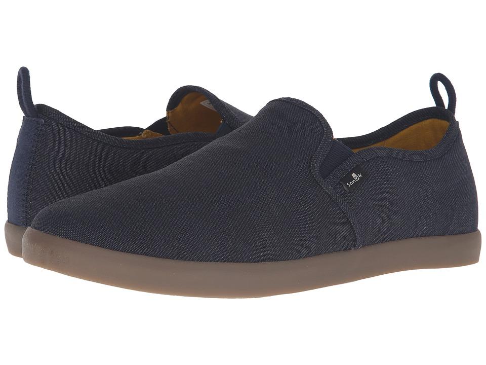 Sanuk - Range TX (Navy/Gum) Men's Slip on Shoes