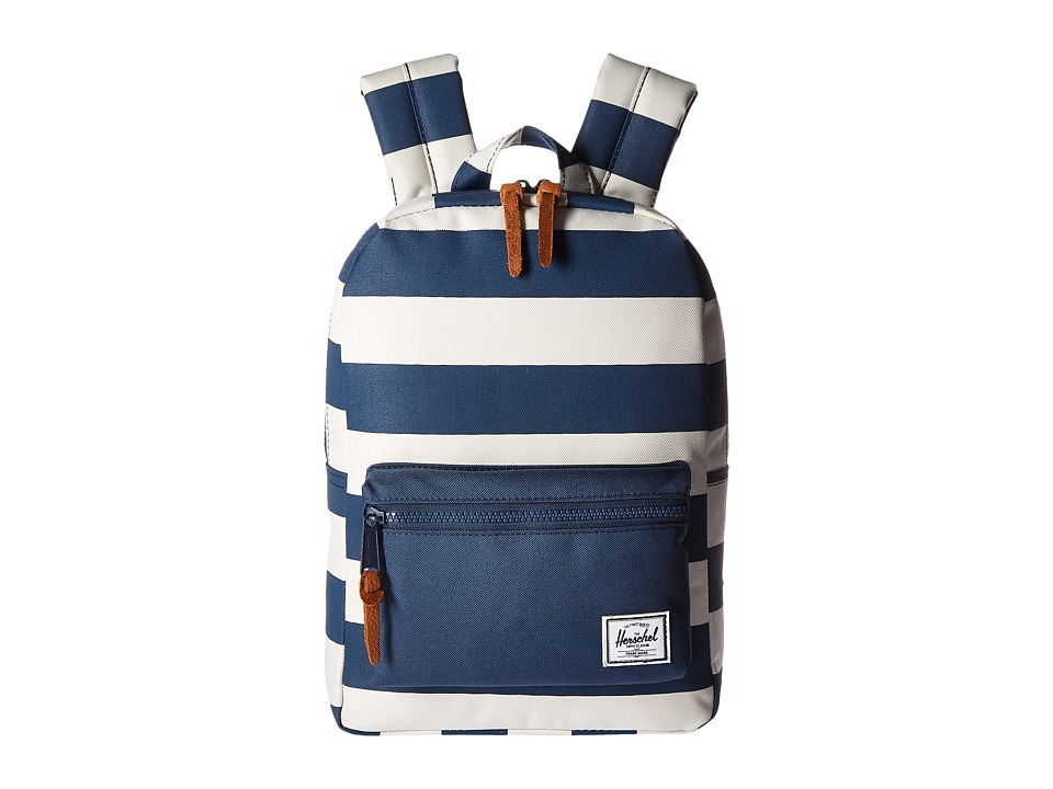 Herschel Supply Co. - Settlement Kids (Little Kids/Big Kids) (Navy/Natural Stripe/Navy) Backpack Bags