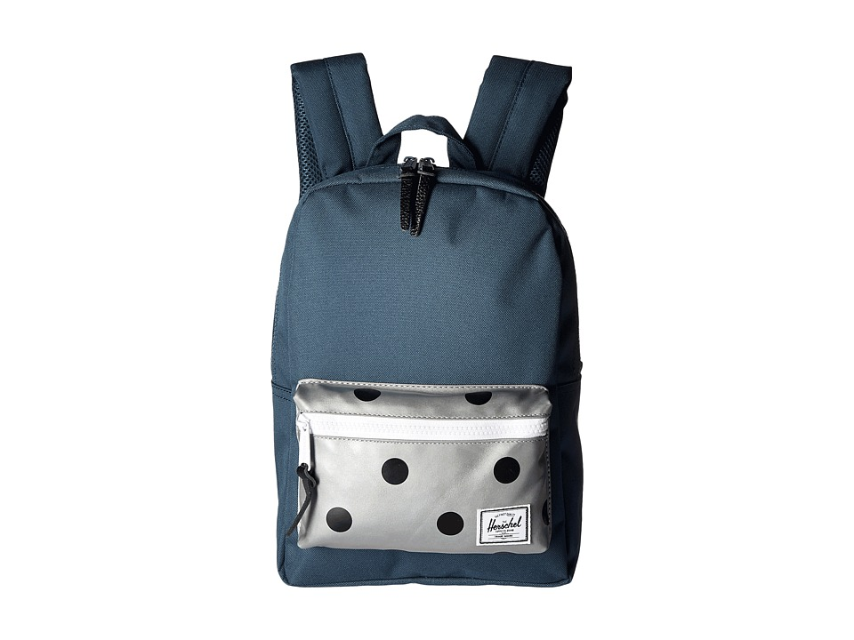 Herschel Supply Co. - Settlement Kids (Little Kids/Big Kids) (Indian Teal/Grey 3M Polka Dot) Backpack Bags