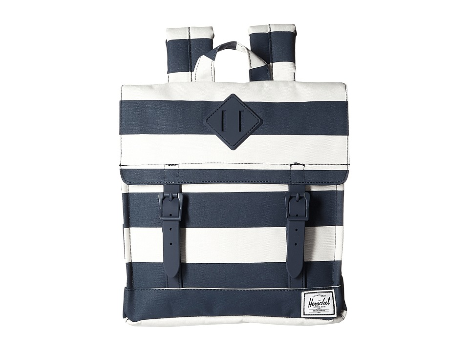 Herschel Supply Co. - Survey Kids (Navy/Natural Stripe/Navy Rubber) Backpack Bags