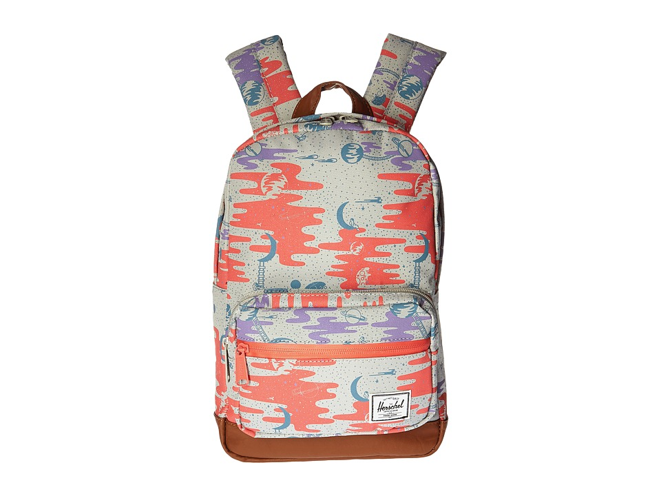 Herschel Supply Co. - Pop Quiz Kids (Space Explorers Girls/Tan Synthetic Leather) Backpack Bags