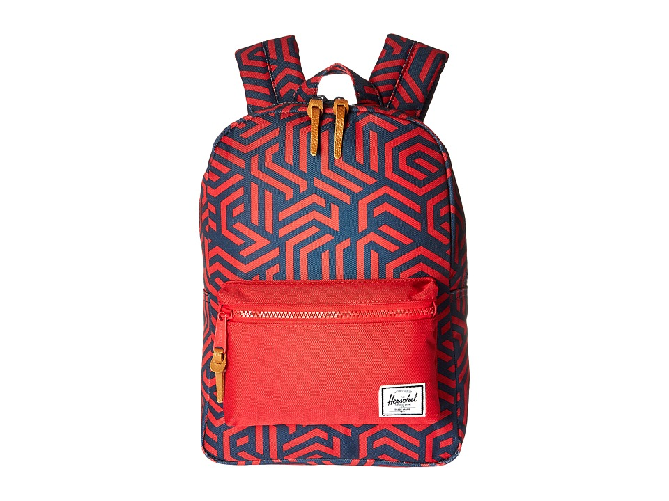 Herschel Supply Co. - Settlement Kids (Little Kids/Big Kids) (Navy Metric/Red) Backpack Bags